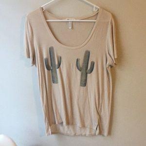 Pink cactus shirt